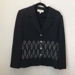 St John knit studded dress top